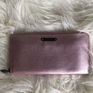 Rebecca Minkoff metallic pink wallet